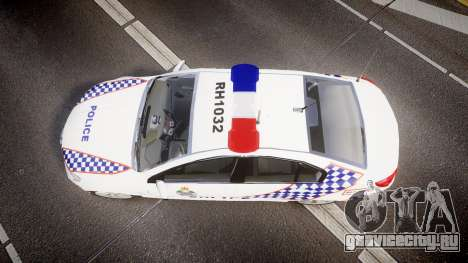 Holden VF Commodore SS Queensland Police [ELS] для GTA 4 вид справа