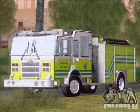 Pierce Arrow XT Miami Dade FD Engine 45 для GTA San Andreas