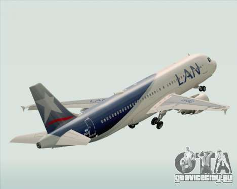 Airbus A320-200 LAN Argentina для GTA San Andreas вид сверху