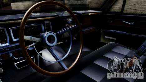 Lincoln Continental для GTA San Andreas вид справа