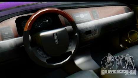 Lincoln Town Car 2010 для GTA San Andreas вид справа