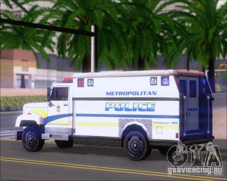 Enforcer Metropolitan Police для GTA San Andreas вид справа