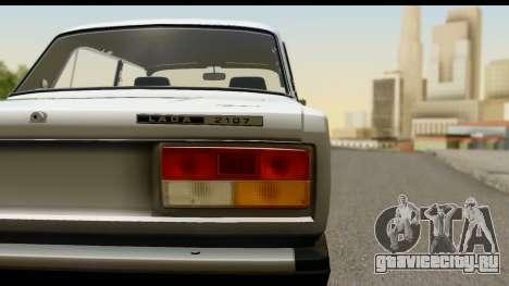 ВАЗ 2107 Сток для GTA San Andreas вид сзади слева