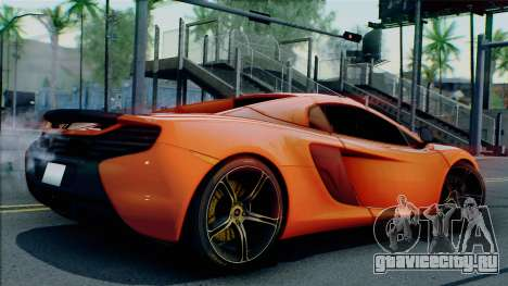 McLaren 650S Spider 2014 для GTA San Andreas вид сзади слева