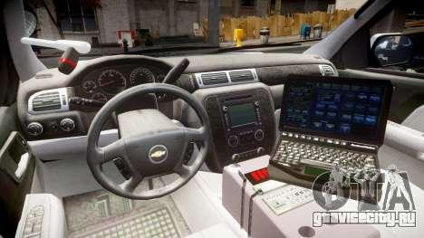 Chevrolet Tahoe 2010 Police Alderney [ELS] для GTA 4 вид сзади
