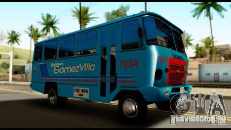 Chevrolet Bus для GTA San Andreas вид справа