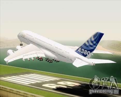 Airbus A380-800 F-WWDD Etihad Titles для GTA San Andreas салон