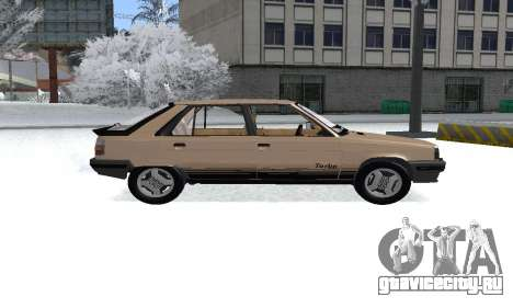 Renault 11 Turbo Phase I 1984 для GTA San Andreas вид сзади слева