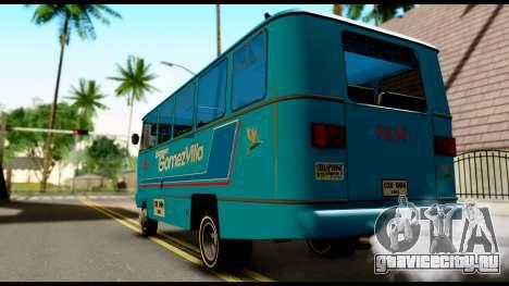 Chevrolet Bus для GTA San Andreas вид слева
