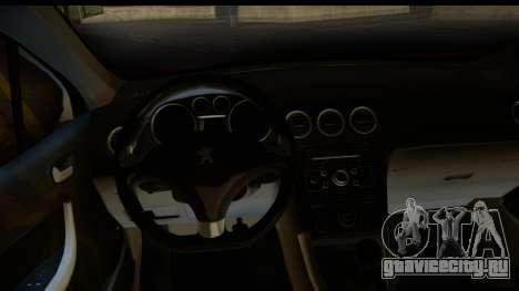 Peugeot 308 ENS Tuning для GTA San Andreas вид сзади