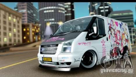 Ford Transit SWB Love Live для GTA San Andreas