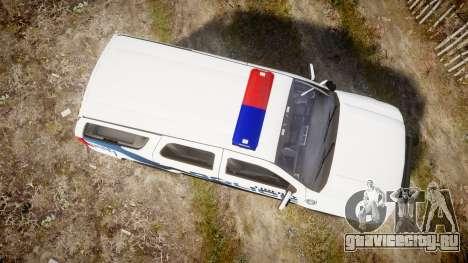 Chevrolet Tahoe 2010 LCPD [ELS] для GTA 4 вид справа