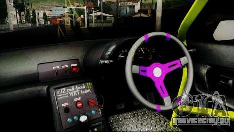 Nissan Skyline GT-S R32 для GTA San Andreas вид сзади