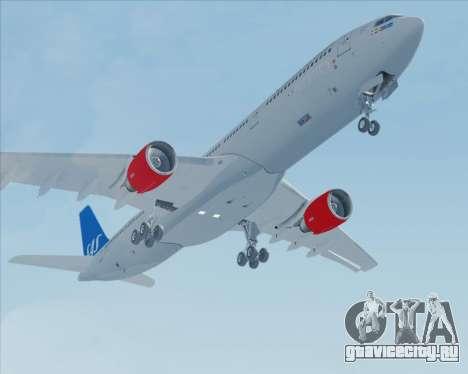 Airbus A330-300 Scandinavian Airlines для GTA San Andreas вид сбоку