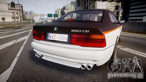 BMW E31 850CSi 1995 [EPM] Carbon для GTA 4 вид сзади слева