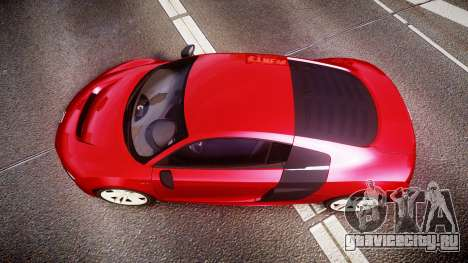 Audi R8 E-Tron 2014 для GTA 4 вид справа
