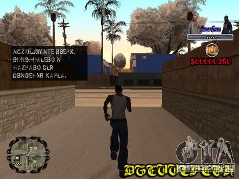 C-HUD Bomj Gang для GTA San Andreas второй скриншот