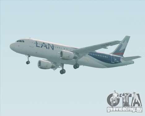 Airbus A320-200 LAN Argentina для GTA San Andreas вид сзади