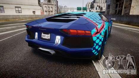 Lamborghini Aventador 2012 [EPM] Miku 3 для GTA 4 вид сзади слева