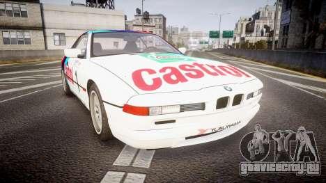 BMW E31 850CSi 1995 [EPM] Castrol White для GTA 4