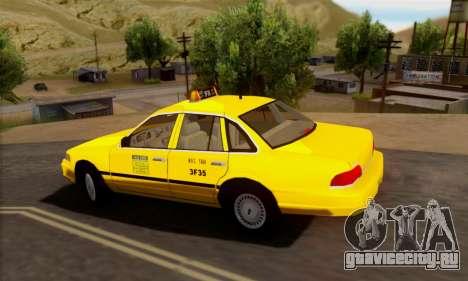Ford Crown Victoria NY Taxi для GTA San Andreas вид сзади