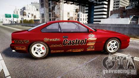 BMW E31 850CSi 1995 [EPM] Castrol Red для GTA 4 вид слева