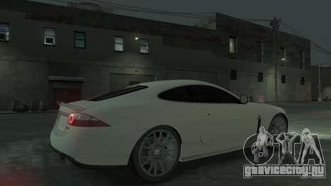 Jaguar XK v.2.0 для GTA 4 вид изнутри