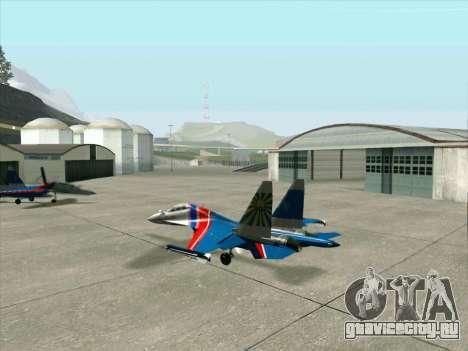 SU-30 МК 2 для GTA San Andreas вид сзади