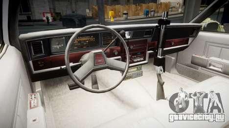 Chevrolet Impala 1985 LCPD [ELS] для GTA 4 вид сзади