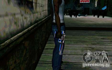 Blue Dragon Deagle для GTA San Andreas второй скриншот