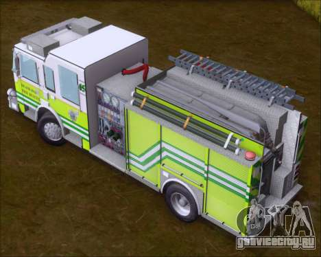 Pierce Arrow XT Miami Dade FD Engine 45 для GTA San Andreas вид изнутри