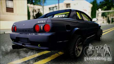 Nissan Skyline GT-S R32 для GTA San Andreas вид сзади слева