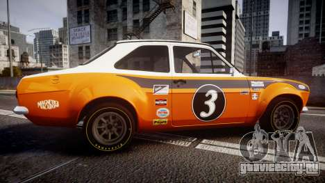 Ford Escort RS1600 PJ3 для GTA 4 вид слева