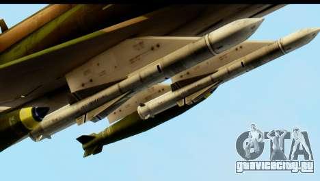 F-4 Vietnam War Camo для GTA San Andreas вид изнутри