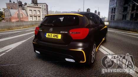 Mersedes-Benz A45 AMG PJs4 для GTA 4 вид сзади слева