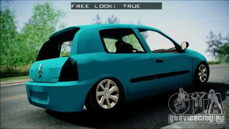 Renault Clio Beta v1 для GTA San Andreas вид сзади слева