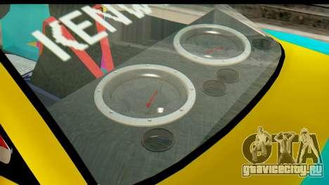 Opel Manta для GTA San Andreas вид сзади слева