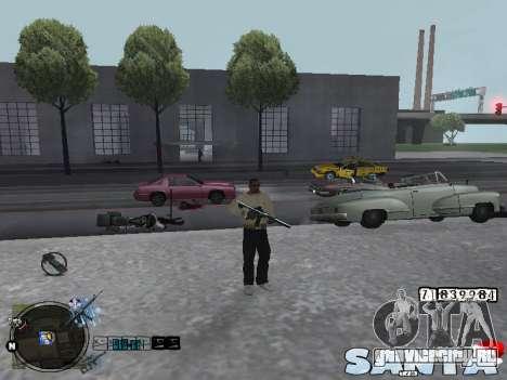 C-HUD Santa для GTA San Andreas второй скриншот