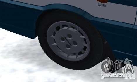 Daewoo-FSO Polonez Kombi 1.6 GSI Police 2000 для GTA San Andreas вид снизу