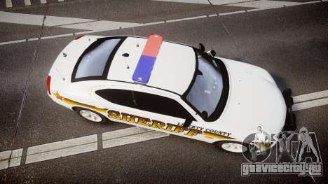 Dodge Charger 2006 Sheriff Liberty [ELS] для GTA 4 вид справа