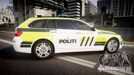 BMW 530d F11 Norwegian Police [ELS] для GTA 4 вид слева
