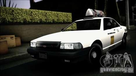 Taxi Vapid Stanier II from GTA 4 IVF для GTA San Andreas вид сверху