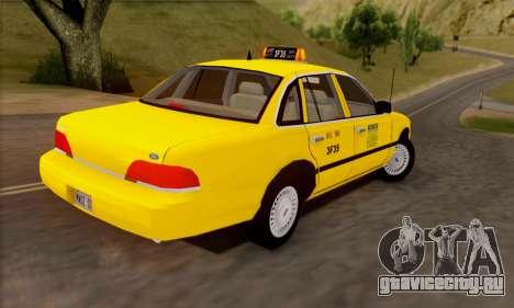 Ford Crown Victoria NY Taxi для GTA San Andreas вид изнутри