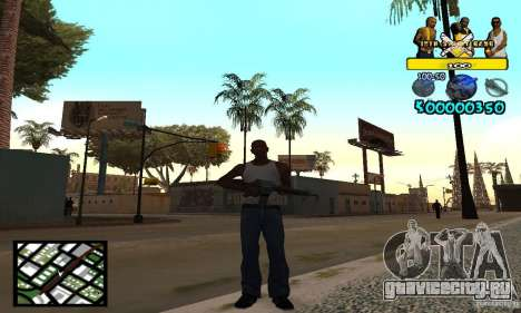 Tawer Getto HUD для GTA San Andreas второй скриншот