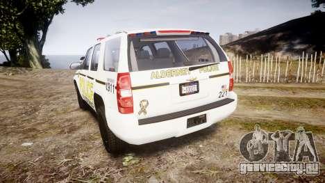Chevrolet Tahoe 2010 Police Alderney [ELS] для GTA 4 вид сзади слева
