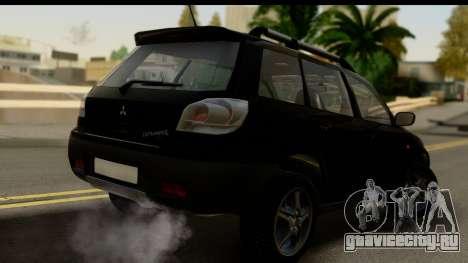 Mitsubishi Outlander для GTA San Andreas вид слева