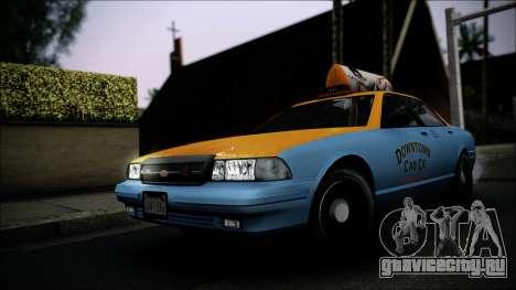 Taxi Vapid Stanier II from GTA 4 IVF для GTA San Andreas