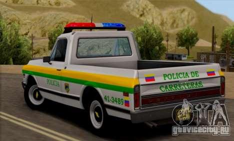 Chevrolet C10 1972 Policia для GTA San Andreas вид слева