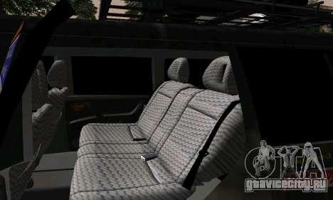 Mitsubishi Pajero Off-Road для GTA San Andreas вид сбоку