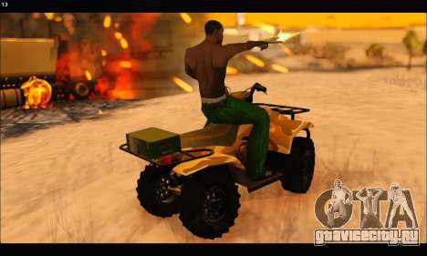 ATV Army Edition v.3 для GTA San Andreas вид сверху